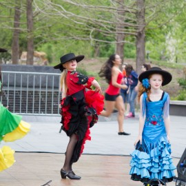 Flamenco Youth Company performing at OKC arts festival 2013