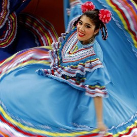 Angela dancing Mexican Folkloric