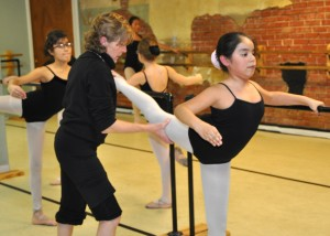 Young ballerinas learn proper technique under the tutelage of Ms. Danni Kelly, one of OKC's premiere ballet mistresses.
