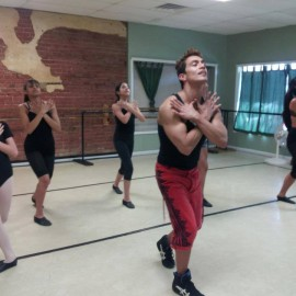 Dance class in action
